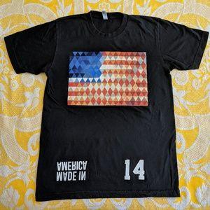 American apparel USA flag made in America medium